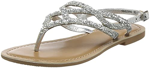 New Look Gleamy, Sandales Bout Ouvert Femme, (Silver 92), 39 EU
