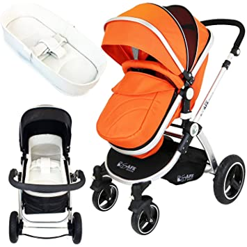 iSafe sistema para cochecito de bebé 2 en 1 - naranja + iSafe cama ...