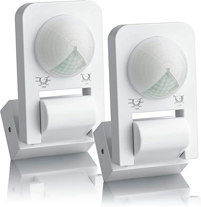 SEBSON 2X Detector de Movimiento Exterior IP65, Montaje Superficie ...