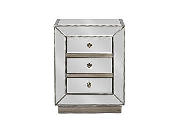 baxton studio currin mirrored 3drawer nightstand large