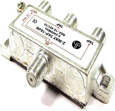 Cablematic - Derivador de 2 vías para TV/SAT de 16 dB con ...
