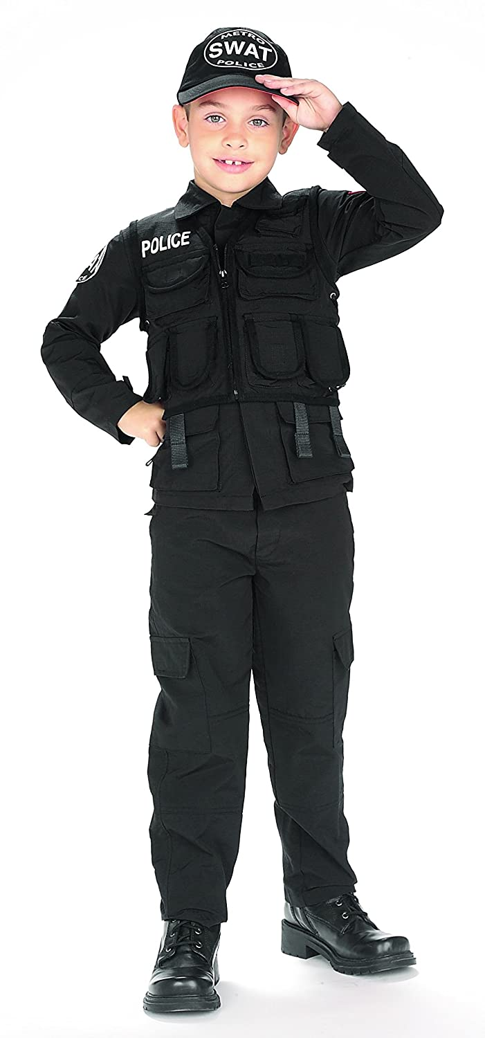 Amazon.com Kids S.W.A.T. Police Outfit Halloween Costume Large Toys u0026 Games  sc 1 st  Amazon.com & Amazon.com: Kids S.W.A.T. Police Outfit Halloween Costume Large ...