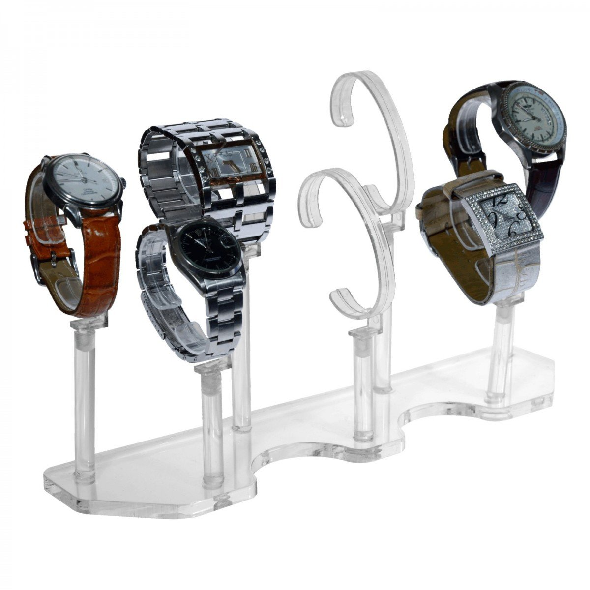 transparent f/ür 3 Uhren Av/à srl Uhrenhalter aus Plexiglass