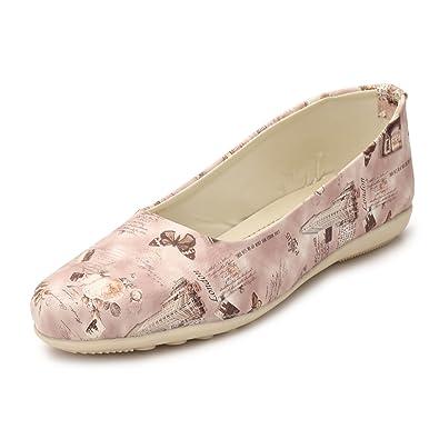 876e6cdc73a94 AlexaStar Women Flat Belly Shoes Comfortable Slip On Pointed Toe Girls  Ballet Flats/Bellies/Ballerina