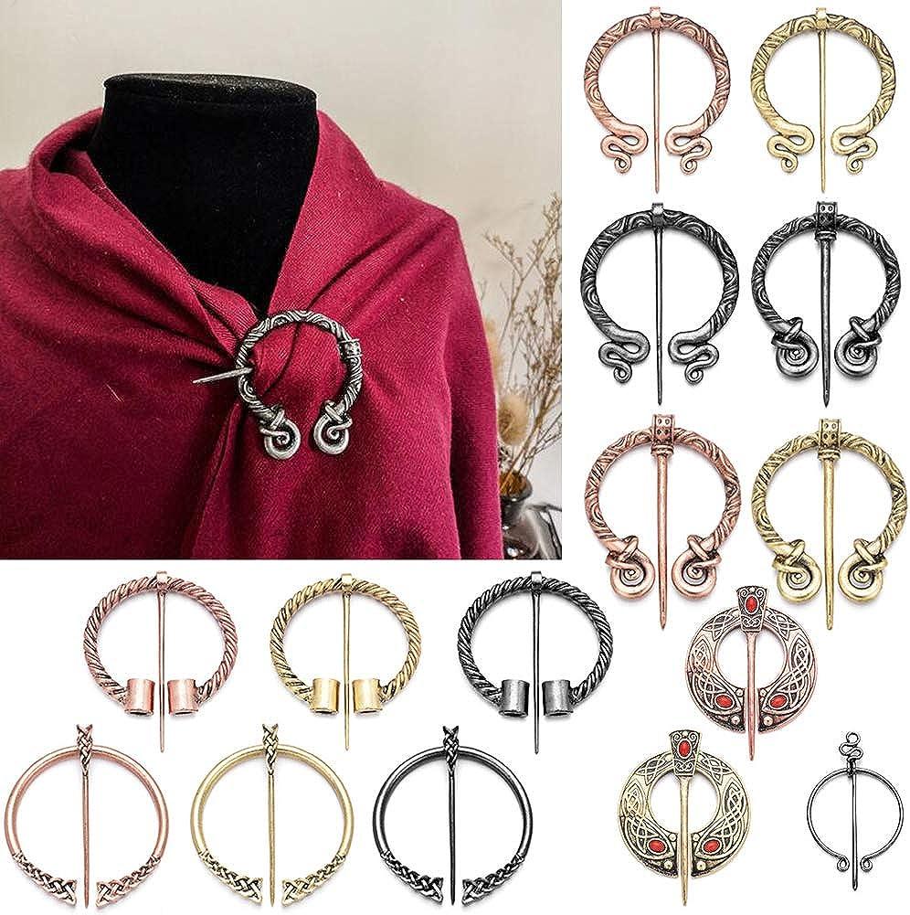 Broche Viking /Écharpe Cape Ch/âle Fermoir /À Boucle Pin pour Les Femmes Costume Broches Accessoires D/écor