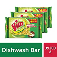 Vim Dishwash Bar, 3x200 g
