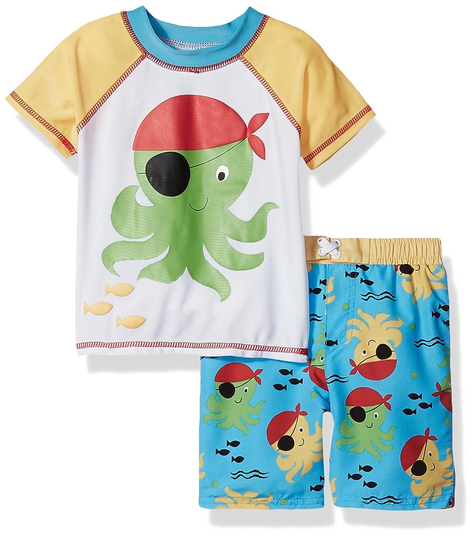 Sol Swim Little Boys' Solo Toddler-Pirate Swim Rashguard Set