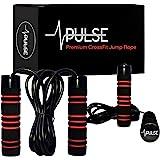 Corda de salto pesada por pulso (1LB) com alças de espuma de memória e cabo de velocidade grossa – para cárdio, boxe e MMA, t