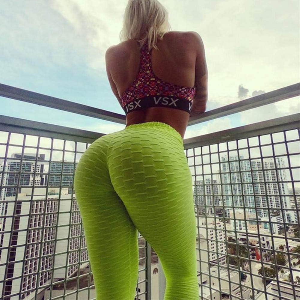 Pau1Hami1ton Legging Femme Pantalon de Sport Yoga Fitness Gym Pilates Taille Haute GP-11