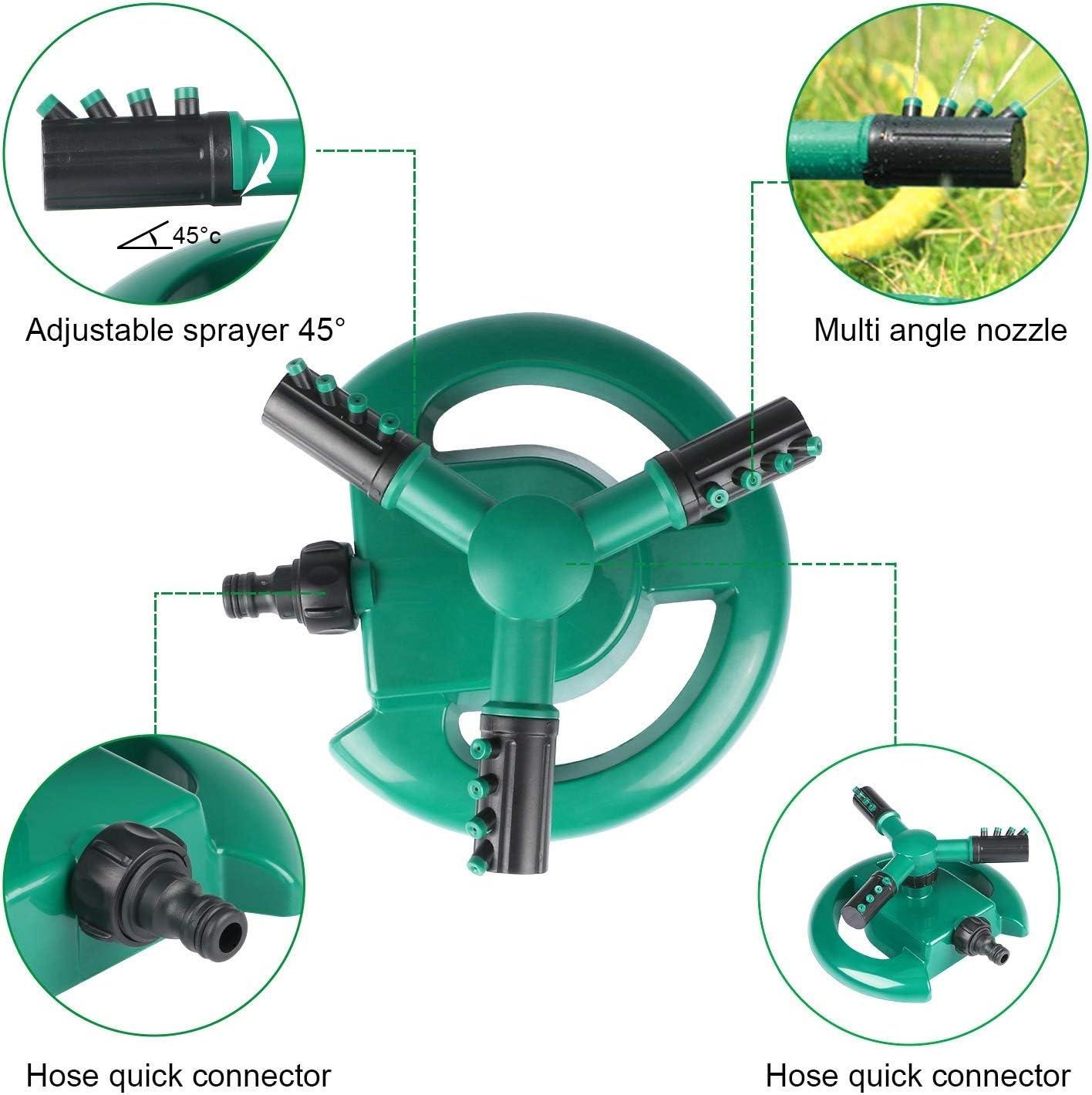 Lecxin Bew/ässerungssprinkler 360 /° drehbarer Rasensprinkler Gartenwassersprayer Bew/ässerungswerkzeug Gartenschlauchzubeh/ör Gartensprinkler