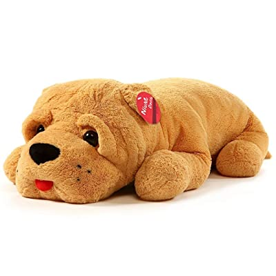 Niuniu Daddy 24 Inches Super Soft Stuffed Dog Plush Puppy Pillow Animal Hugging Pillow Plush Cute Stuffed Animal Toy for Kids: Home & Kitchen