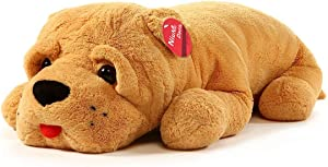 Niuniu Daddy 32 Inches Giant Stuffed Animal Plush Dog Soft Toy, Large Stuffed Dog Plush Puppy Pillow for Home Office Decoration.