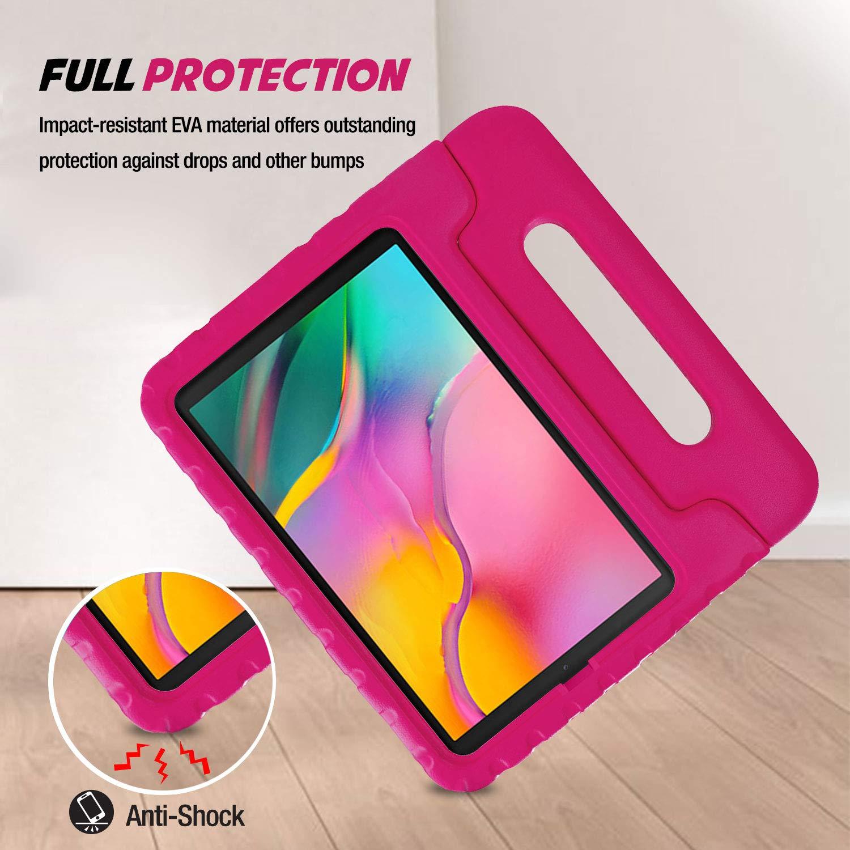 ProCase Funda Infantil Galaxy Tab A 10.1 2019 T510 T515 Magenta Funda Beb/é Blanda Ligera para Galaxy Tab A 10.1 2019 T510 T515 Carcasa Ni/ño Antigolpes con Asa Convertible Tapa de Soporte