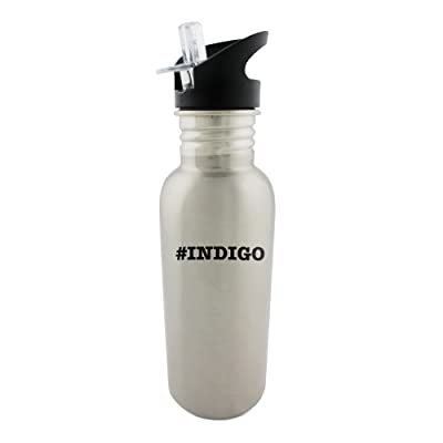 nicknames INDIGO nickname Hashtag Stainless steel 600ml bottle with straw top