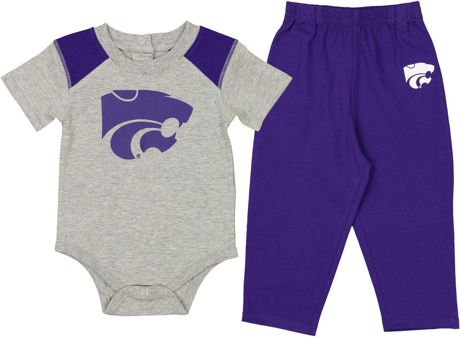 OuterStuff NCAA Infant Ellipse Creeper /& Pant Set Team Variation 12M-24M