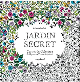 Amazonin Buy Jardin Secret Carnet De Coloriage Et Chasse Au Tresor Anti Stress Garden Coloring Book Online At Low Prices In India
