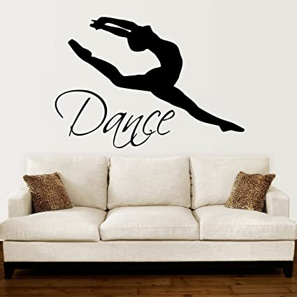 Wall Decals Quotes Dance Quote Dancer Silhouette Gymnastics Girls Kids  Children Gift Nursery Dance Studio Ballerina