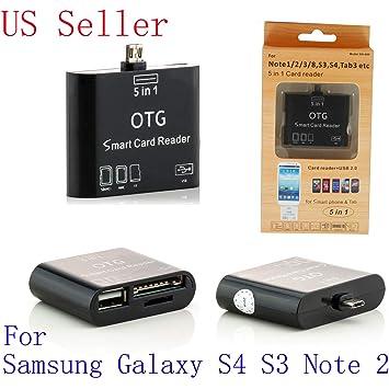 USB OTG Host Adapter+SD Card Reader For SAMSUNG GALAXY Note 3 N9000 N9002 N9008