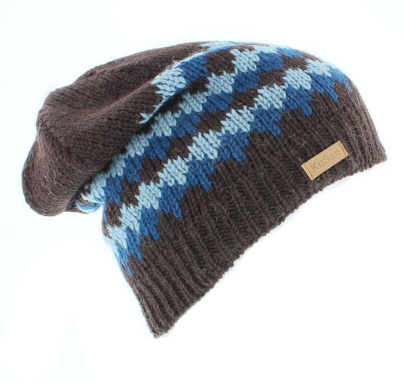 Kusan Mens 100% Wool Floppy Beanie hat (KU1111) (Brown)  Amazon.co.uk   Clothing dbf0a1e0f3c