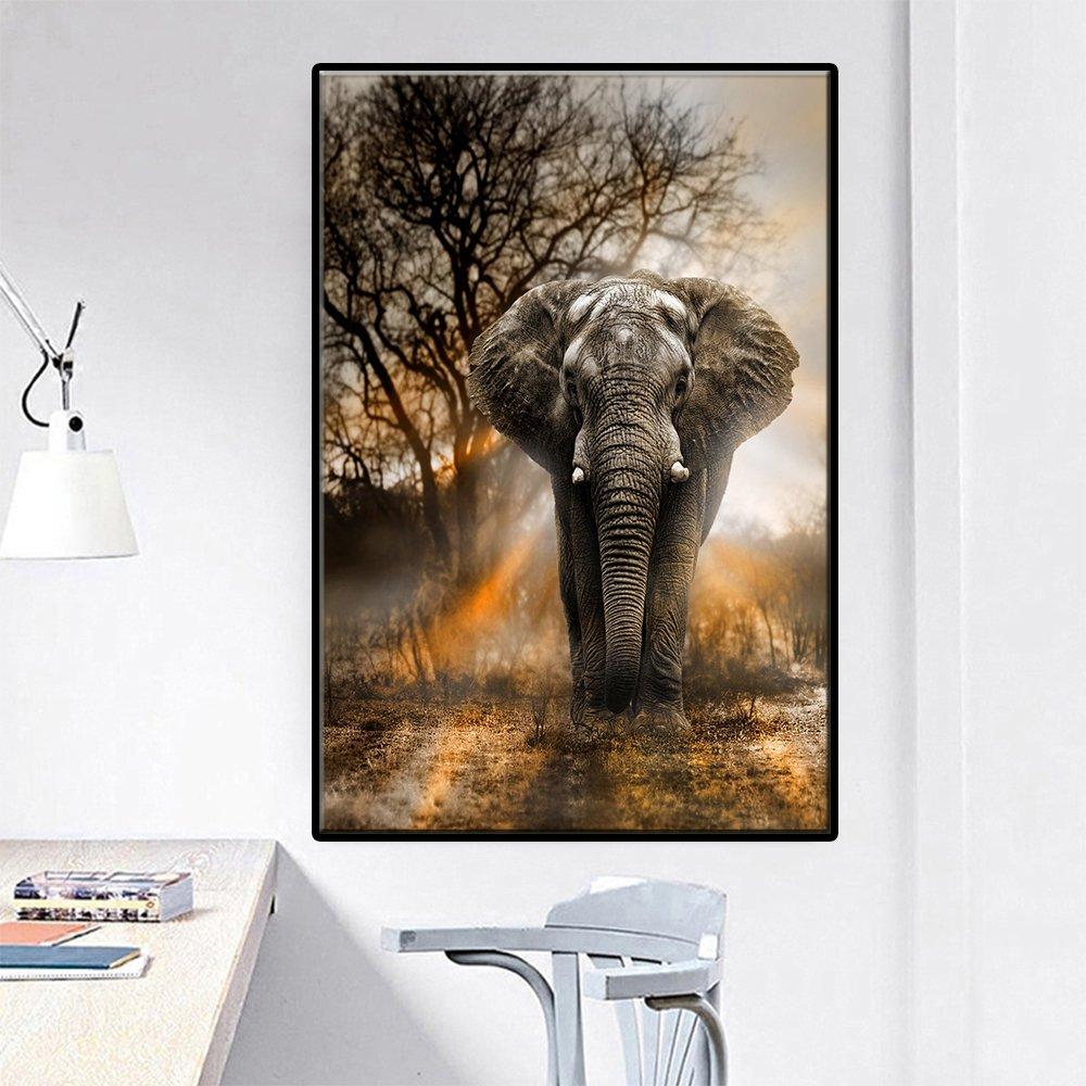 14X16inch//35X40CM Twuky 5D Diamond Painting Kits Full Drill Diamond Embroidery-Home Decoration Process-Elephant