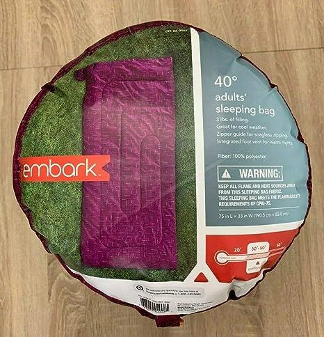 Embark - Saco de Dormir para niños, Color Morado: Amazon.es ...