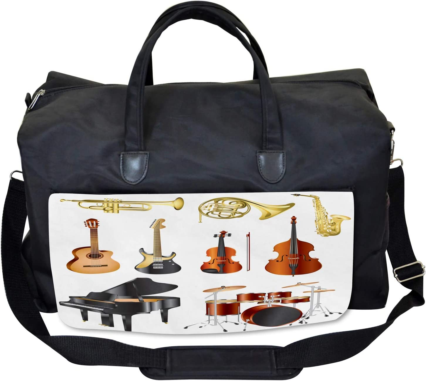 Large Weekender Carry-on Ambesonne Music Gym Bag Symphony Orchestra Concert
