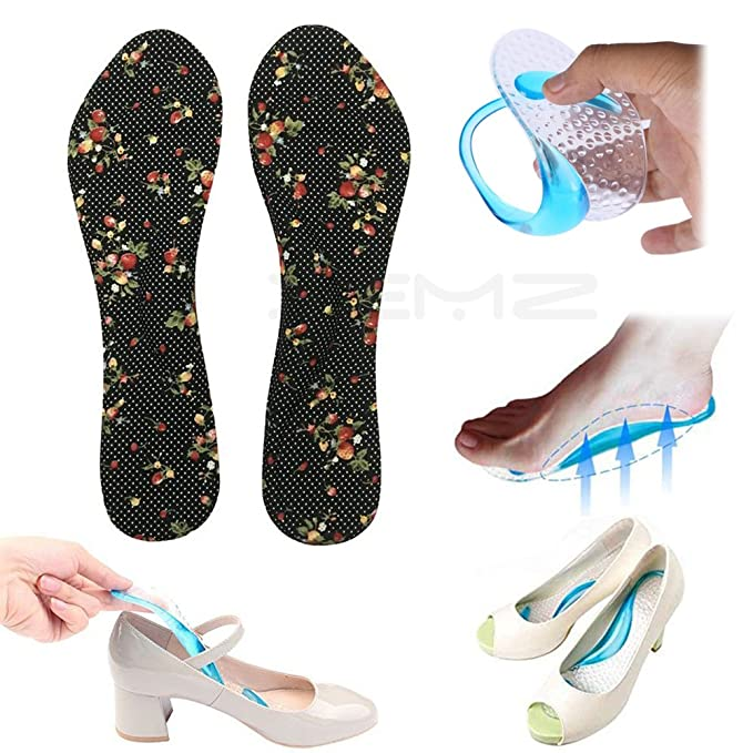 674030e2520c1 3/4 Gel Foot Shock Absorption Insoles, Arch Support Sport Orthotic ...