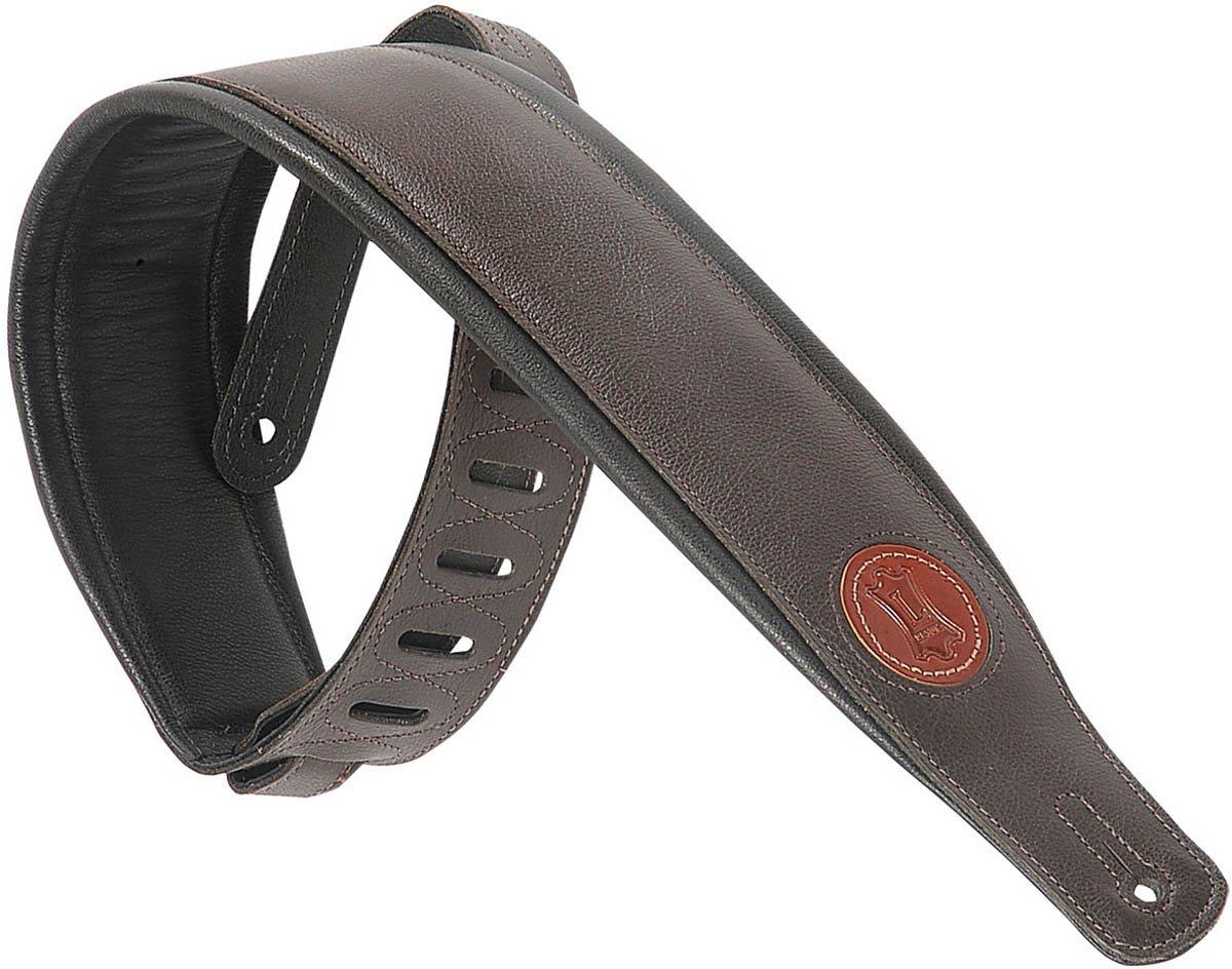 Levy's Leathers MSS2-DBR Garment Leather Guitar Strap,Dark Brown