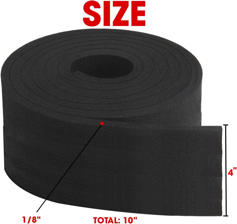 Neoprene Foam Strip Roll by Dualplex Weather Seal High Density Stripping 3 Wide x 10 Long x 1//8 Thick Weather Strip Roll Insulation Foam Strips 10 Feet Long