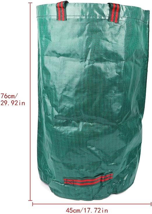 Wrubxvcd 120L Bolsa de residuos de jardín de Alta Resistencia Sacos de Basura Reutilizables para Hierba Verde Color: Amazon.es: Jardín
