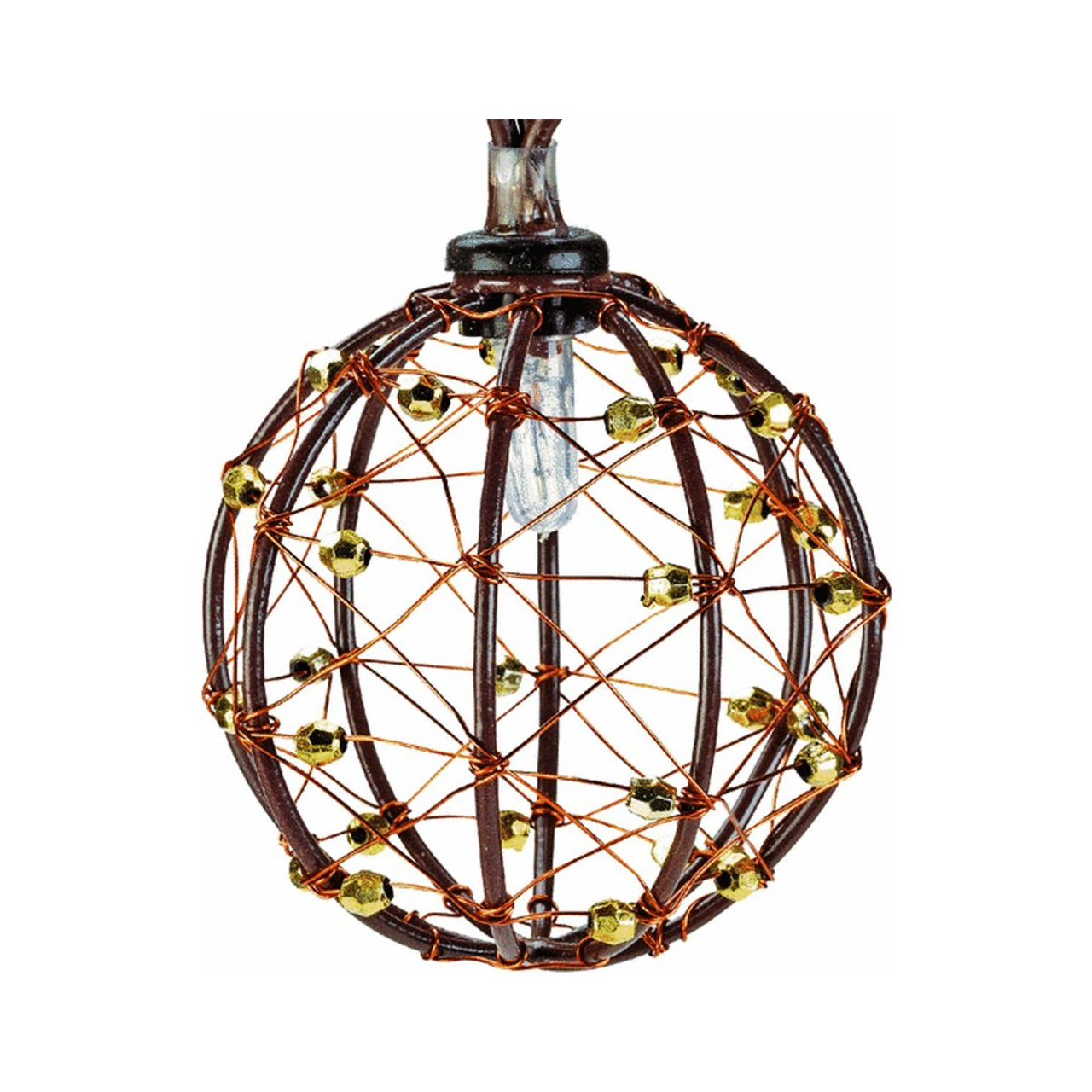 Luxury Beaded Copper Wire String Lights Adornment - Electrical ...