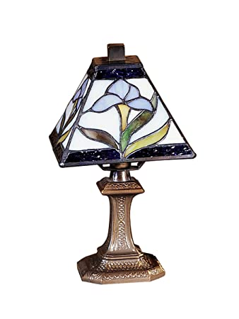 mini accent lamps dale tiffany ta100353 irene mini accent lamp antique brass and art glass shade