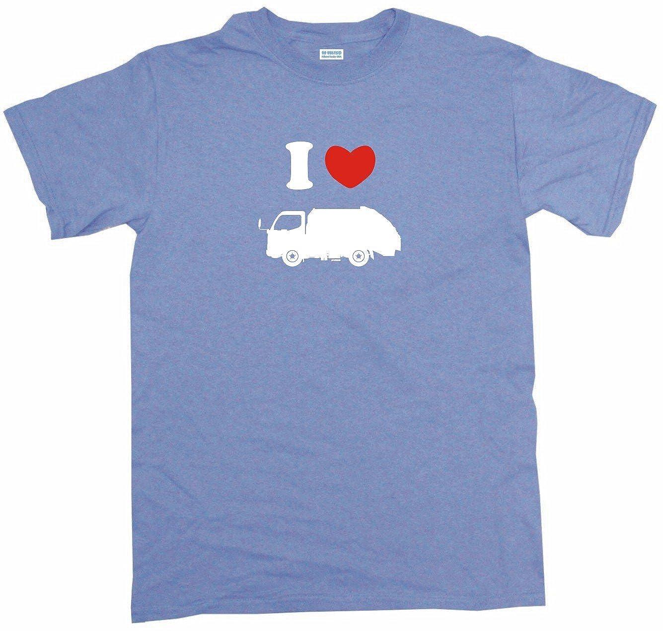 I Heart Love Garbage Truck Little Boy's Kids Tee Shirt