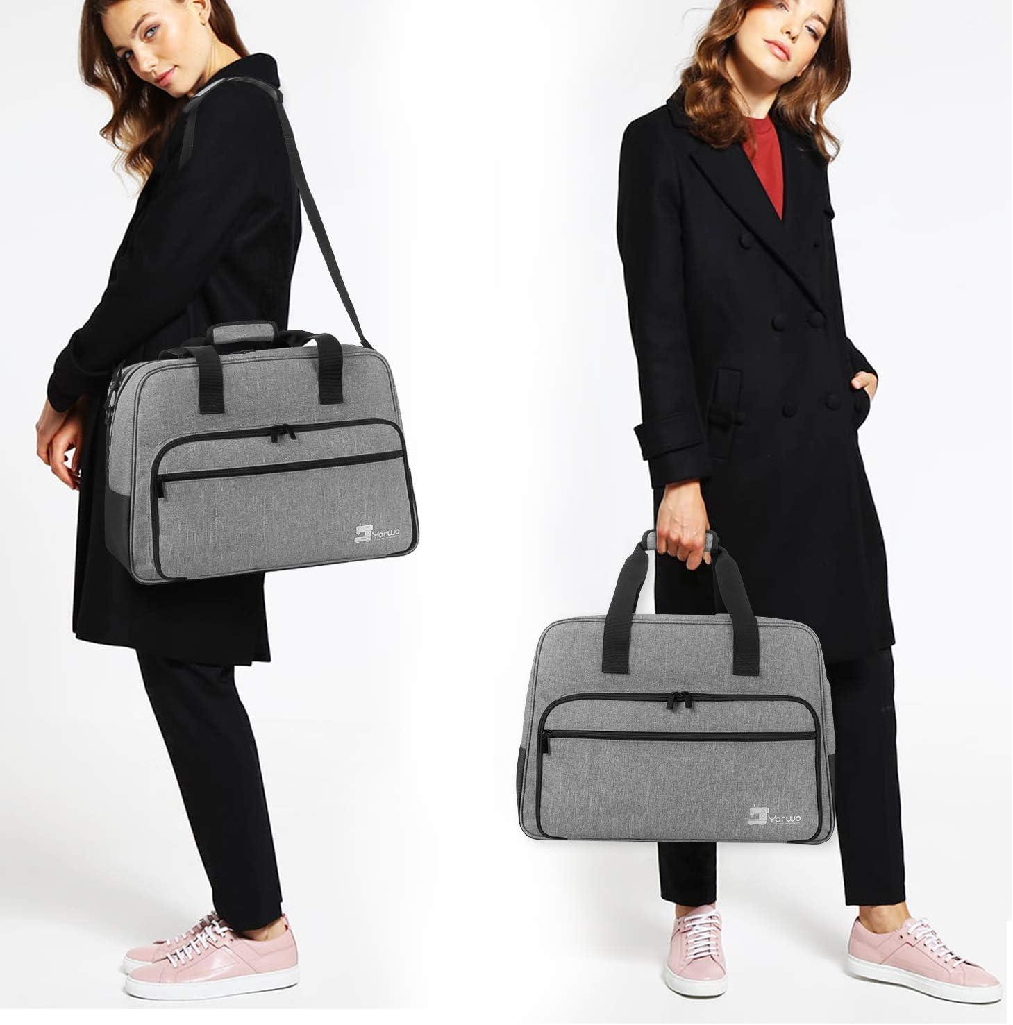 Grey Yarwo Overlocker Bag and Overlocker Accessories Universal Overlocker Machine Bag for Overlocker Fits for Most Major Overlocker Sewing Machine Overlocker Carry Case