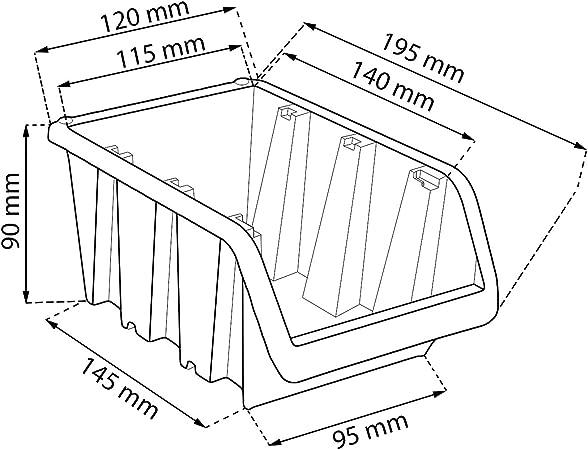 Visi/ón 120/unidades apilables Caja Almacenamiento Caja Almacenamiento kistchen en caja de almacenamiento 0,6/litros Caja 15,5/X10/X 7/cm