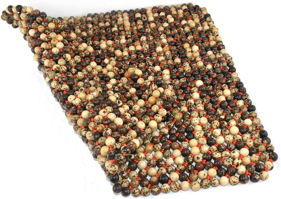 P-03 Dr.OX Natural Wood Beaded Seat Cover Massaging Cushion for Car Truck or Your Office Chair