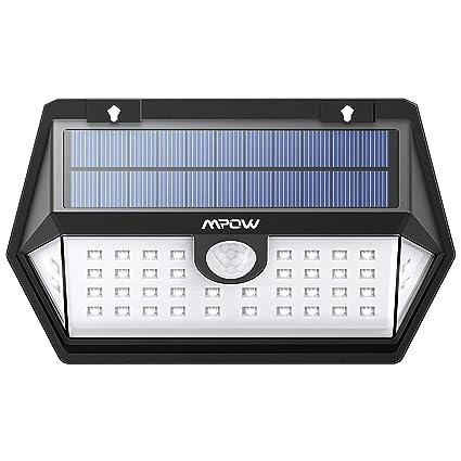 ModoFoco Exterior3 Solar ModosIluminación Para Lámpara Mpow Con MovimientoMemoriar JardinPanel 270° Ip65 De El 40led Sensor 13lFJcTK