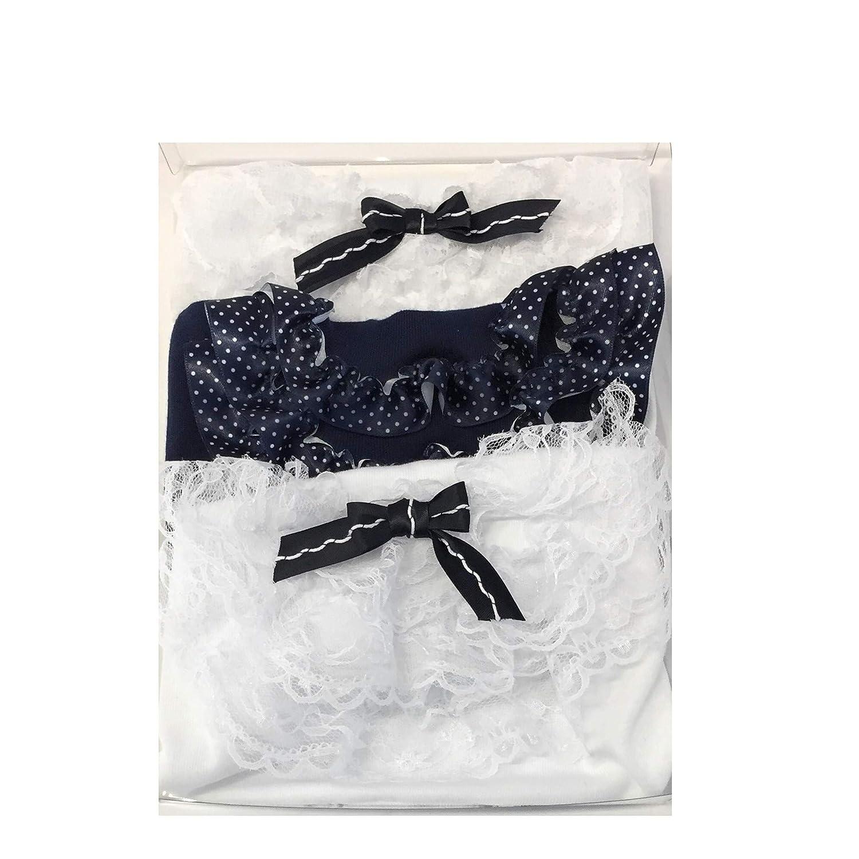 100/% Cotone Anallergico Morbido e Traspirante Disponibile in Bianco e Blu Ideale per Tutte Le Stagioni Pacco da 3 Culotte Cerimonia con Pizzo per Bimba 3//9 Mesi