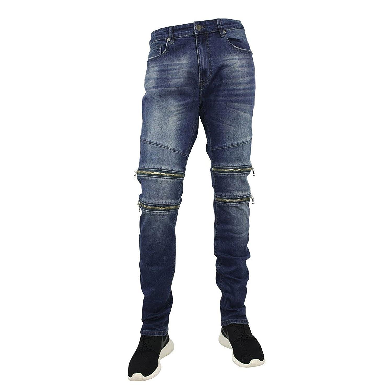 40737b2760ba94 Jordan Craig Men s Slim Straight Aaron Jeans With Zipper Trim at Amazon  Men s Clothing store
