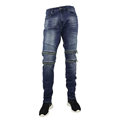 a06c3aeb7e3540 Jordan Craig Men s Slim Straight Aaron Jeans With Zipper Trim at Amazon  Men s Clothing store