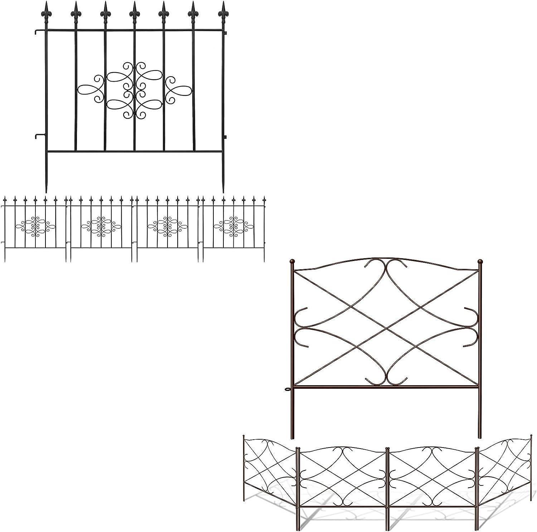 Amagabeli 27in x 10ft Garden Fence Bundle 24in x 10ft Garden Fence