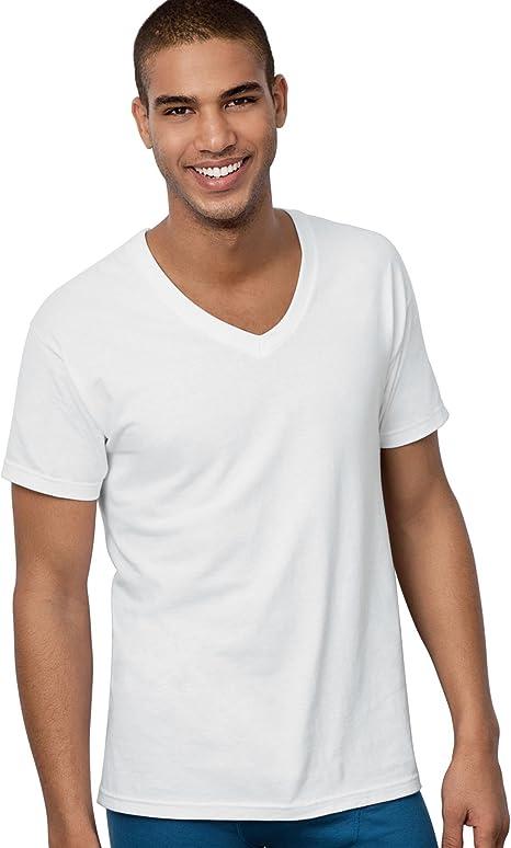 Hanes Classics Mens Traditional Fit V-Neck Undershirt 3-Pack