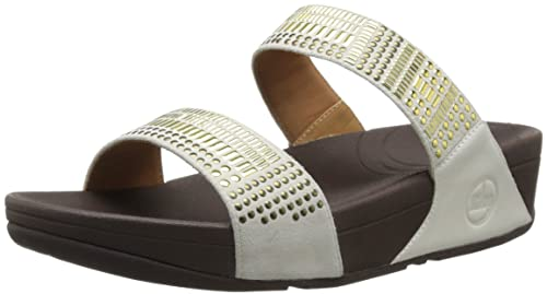 3b50cd114 Fit Flop Women s Aztek Chada Slide Urban White Leather Fashion Sandals - 3  UK India