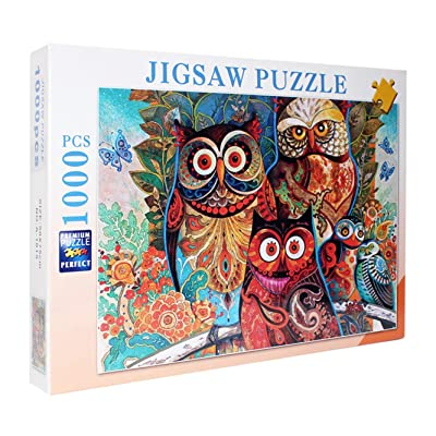 1000 Pieces Sights Views Jigsaw Puzzles for Adults, Puzzle Sets for Family, Cardboard Puzzles, Educational Games, Brain Challenge Puzzle for Kids Childrens (owl): Toys & Games