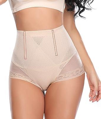b0db829b7d Vaslanda Womens Seamless High Waist Tummy Control Panty Body Shaper  Breathable 4 Steel Bones at Amazon Women s Clothing store