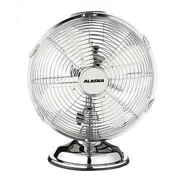 Verbazingwekkend ALASKA Metall Tischventilator MF 2500 | Chrom | Schreibtisch BH-16