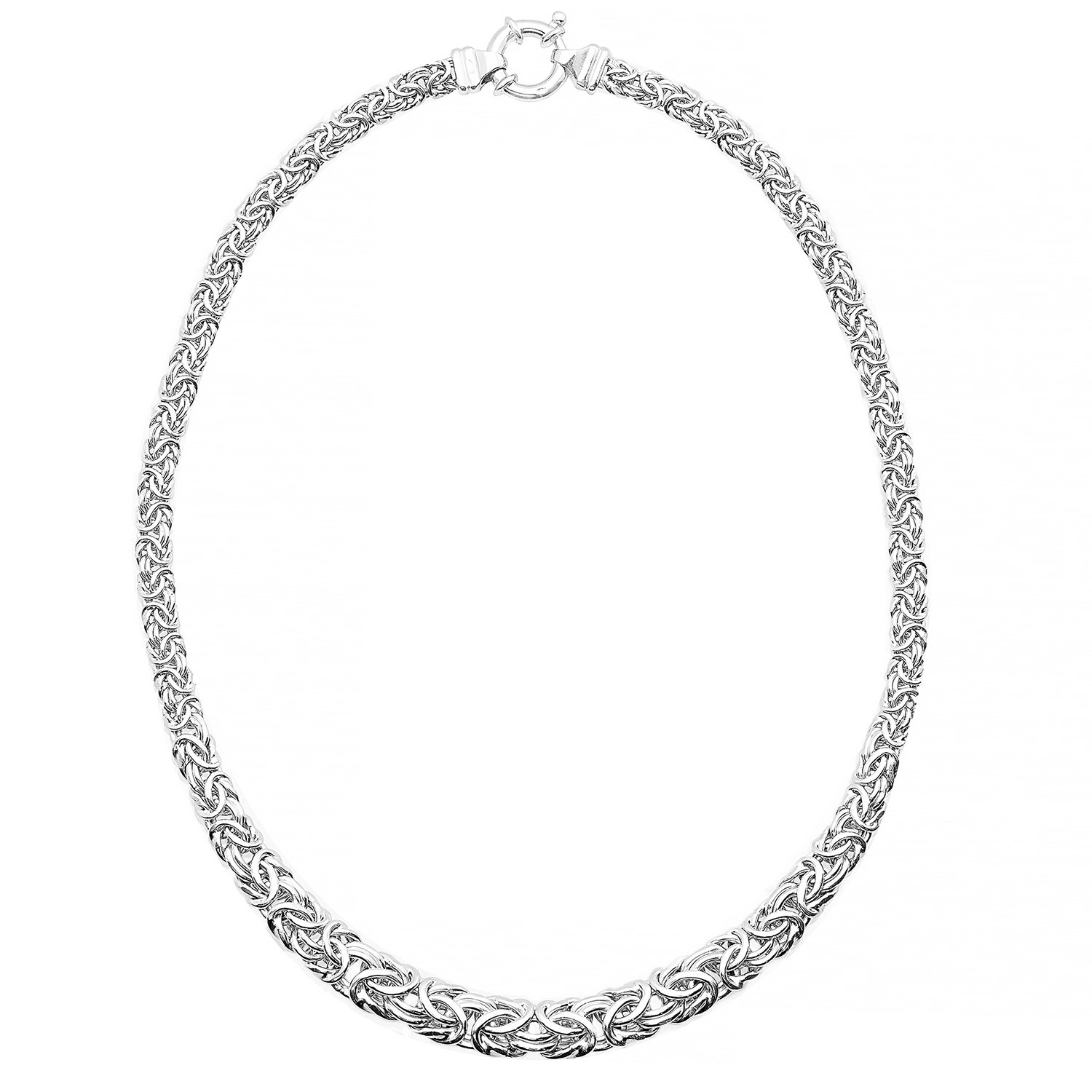 JewelExclusive Sterling Silver Byzantine necklace 18''