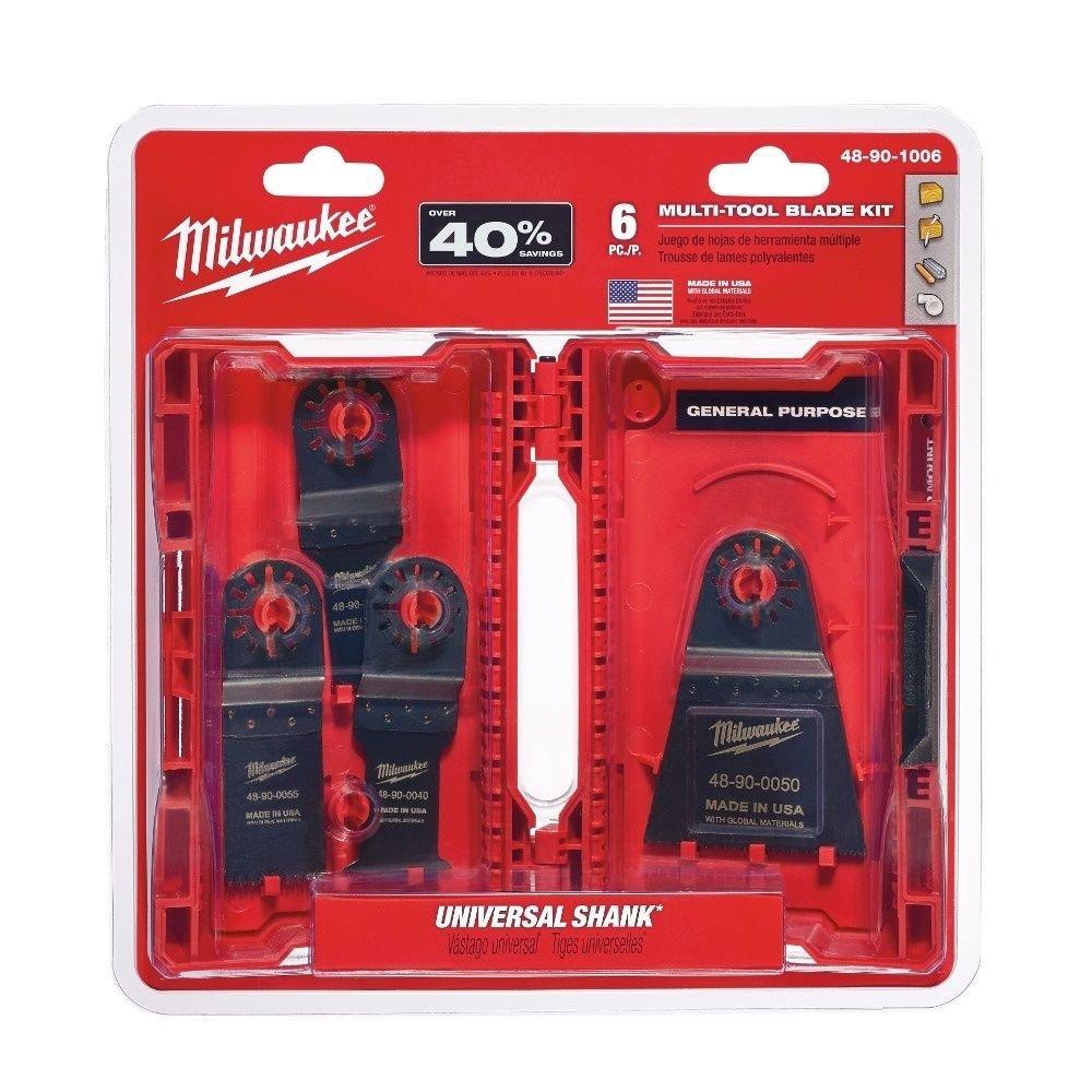 Milwaukee 48-90-1006 Oscillating Multi-Tool Blade Kit (6-Picce) by Milwaukee 48-90-1006 (Image #1)