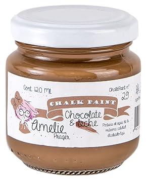 Amelie Prager 120-29 Pintura a la Tiza, Chocolate con Leche, 120 ml: Amazon.es: Bricolaje y herramientas