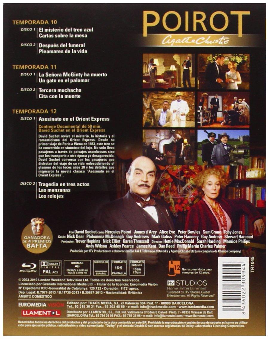 Amazon.com: PACK POIROT TEMPORADAS 10-11-12 BRD - Audio: English, Spanish - Regions 2: Movies & TV